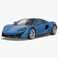 3d model supercar mclaren 570gt 2017