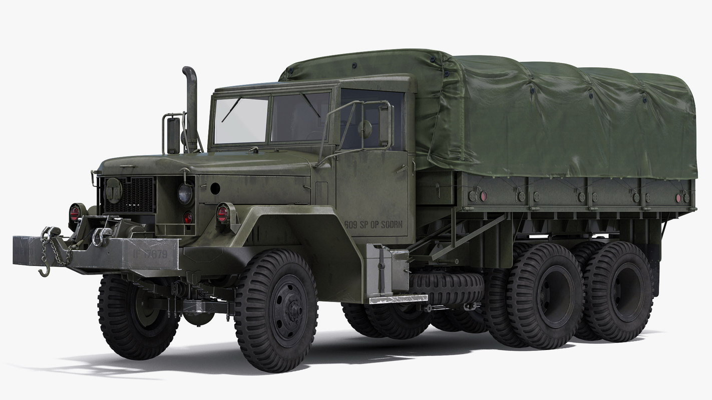 3d model military cargo truck m35a2