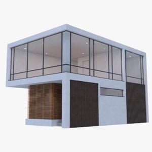 obj modern house interior