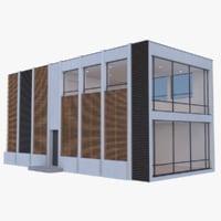 3d modern house interior model