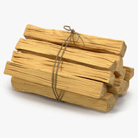 Bundle of Kindling Wood 3D Model