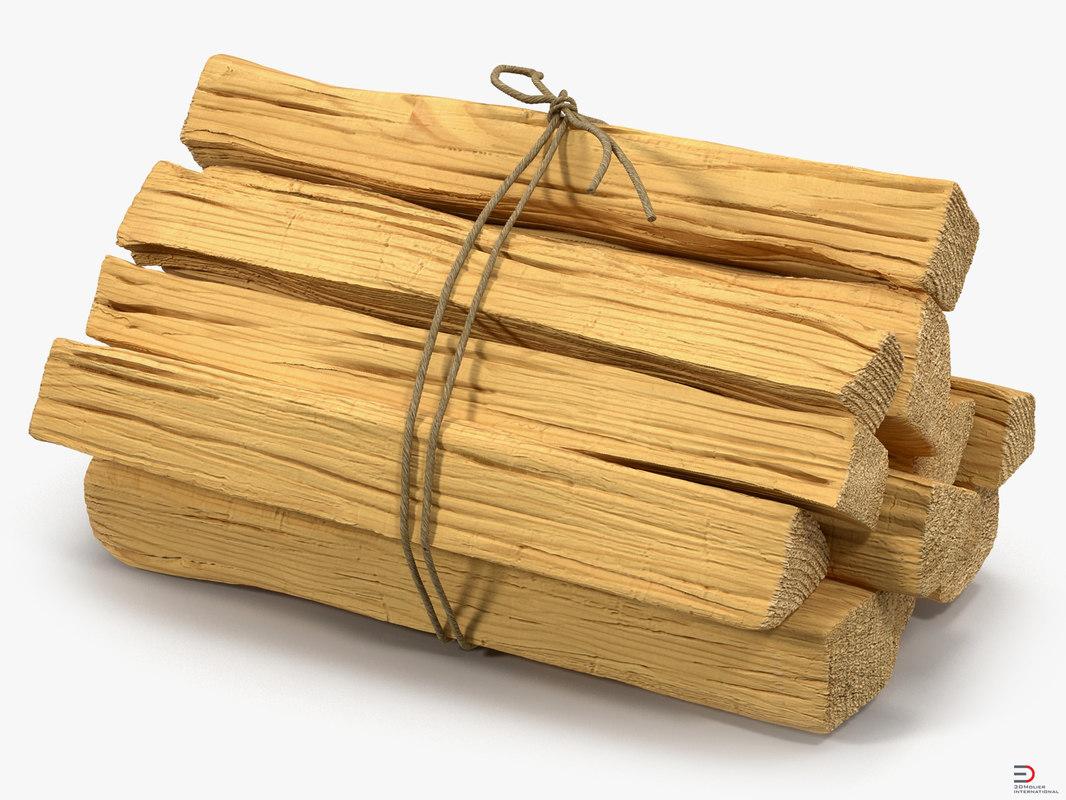 3d model kindling wood