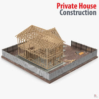 3d model of private house construction 5