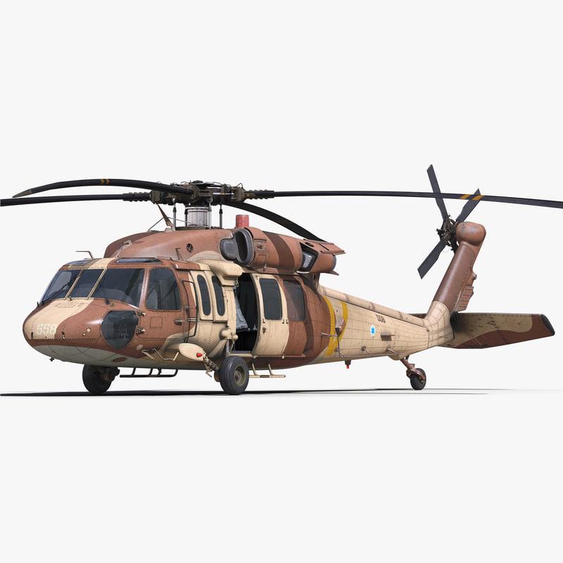 sikorsky uh-60 black hawk 3d obj