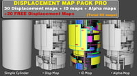 Displacement map pack PRO
