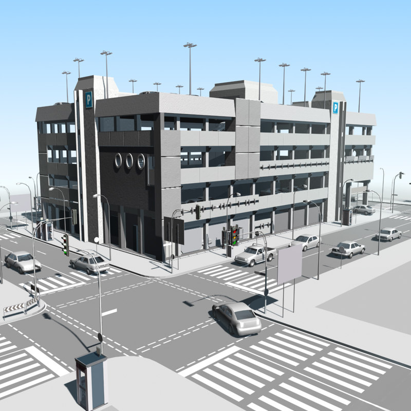 3ds max parking garage