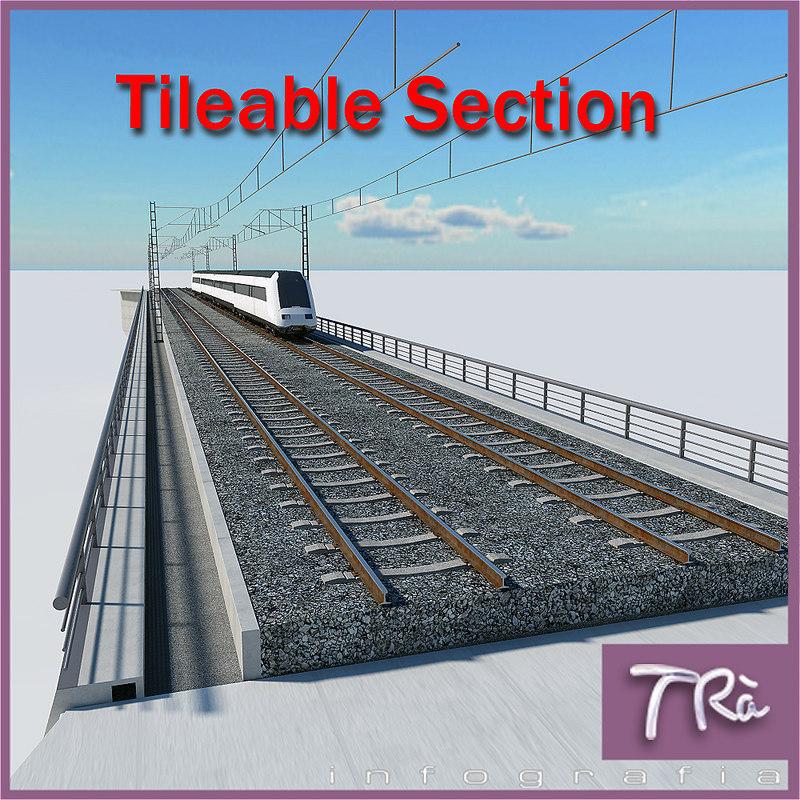 3d bridge section tileable