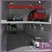 tunnel section details 3d max