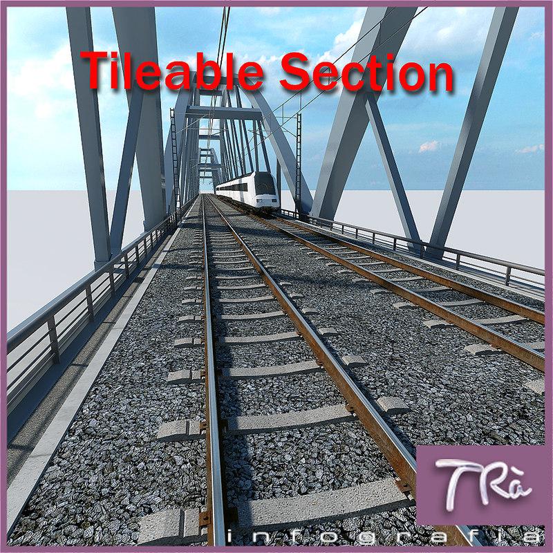 3d bridge section metal model