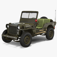 Jeep Willys 1944 3D Model
