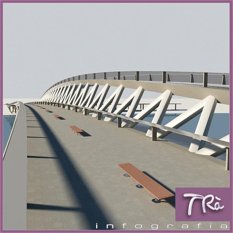 3d pedestrial bridge