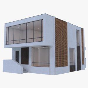 3d modern house interior
