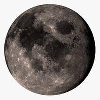 3d moon 32k model