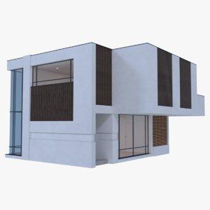 modern house interior 3d obj