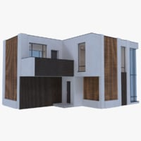 obj modern house interior