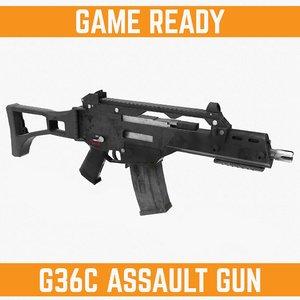 ready g36c gun 3d model