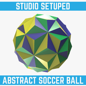 obj abstract soccer ball