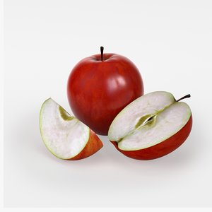 photorealistic red apple max free