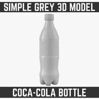 0.5 L Plastic Coke Bottle Model