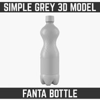 3d model 0 fanta bottle modelled