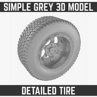 truck tire 3d max