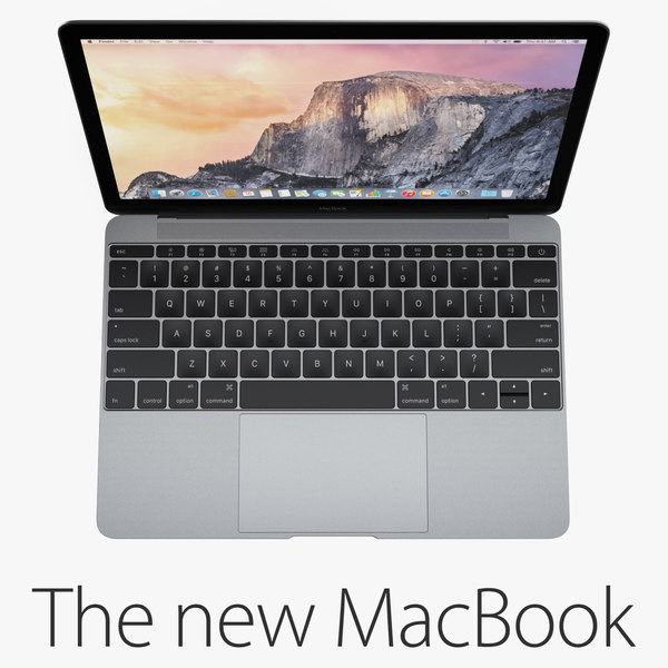 new macbook 12-inch 2015 3d model