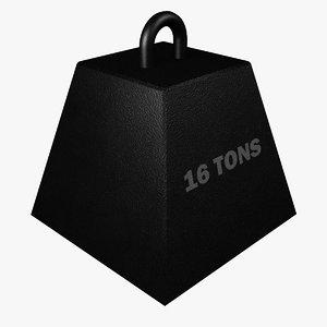 16 tons 3d max