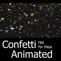 Confetti Animated FBX For Maya / Max