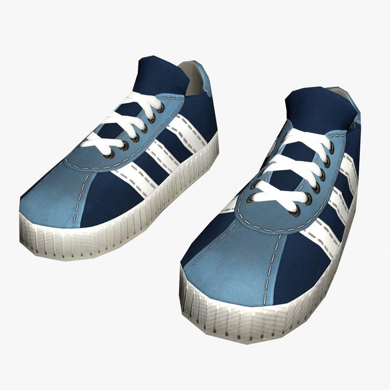 shoes cartoon games 3D