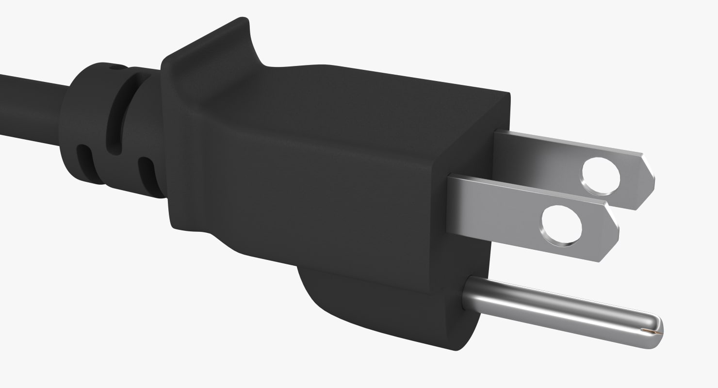 power cord plug 3d max