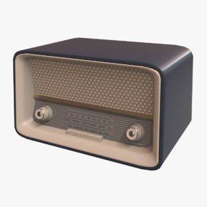vintage radio 50s obj