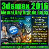 Corso 3ds max 2016 Mental Ray Grande Guida Subscription 1 Computer