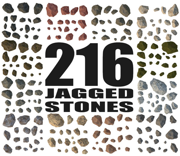 jagged rocks - 3d model