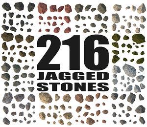 jagged rocks - 3d model
