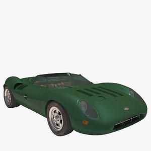 3d car xj 1966 model