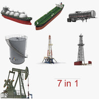 oil production equipment 2 3D model
