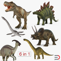 Dinosaurs 3D Models Collection