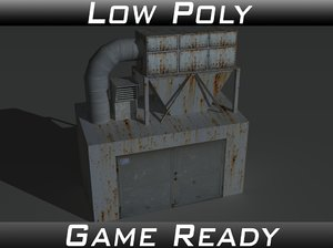 industrial extractor 3d obj