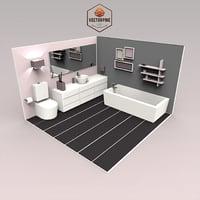 Low Poly Interiors - Bathroom