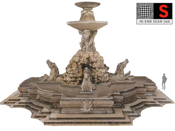 3D salzburg fountain