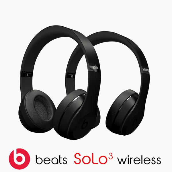 3d model beat solo3 wireless
