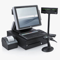 Hewlett Packard HP AP5000 All-in-One Point of Sale System