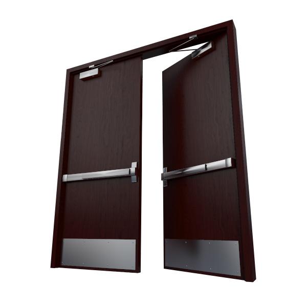 rigged double door max2010 3ds
