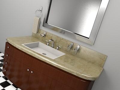 restroom counter 2010 1 3d max