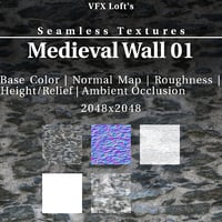 Seamless Textures: Medieval Wall 01