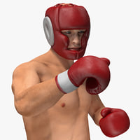 Boxer Man Rigged 3D Model