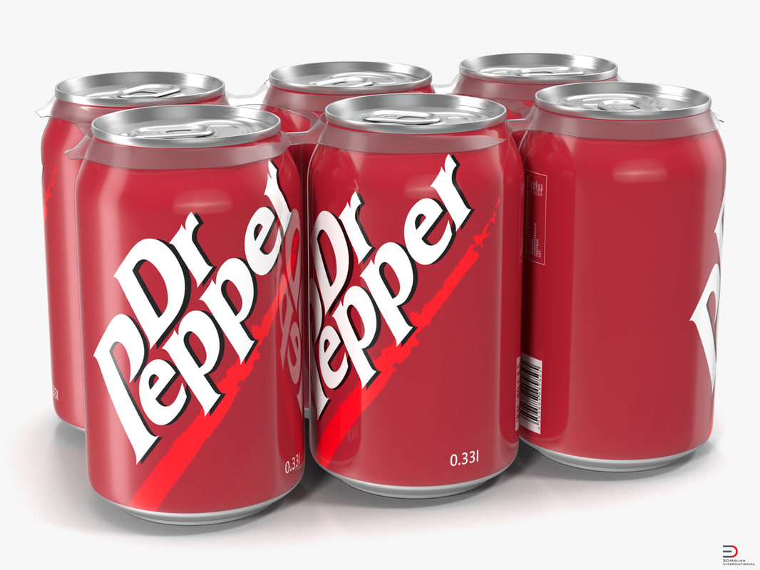 pack cans dr pepper 3d 3ds