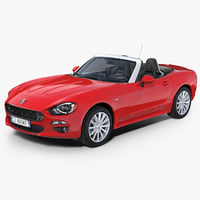 Fiat 124 Spider 2017 Rigged 3D Model
