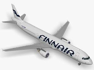 airbus a321-211 finnair a321 3D model