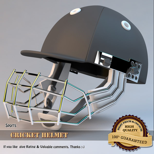 cricket helmet 3d model